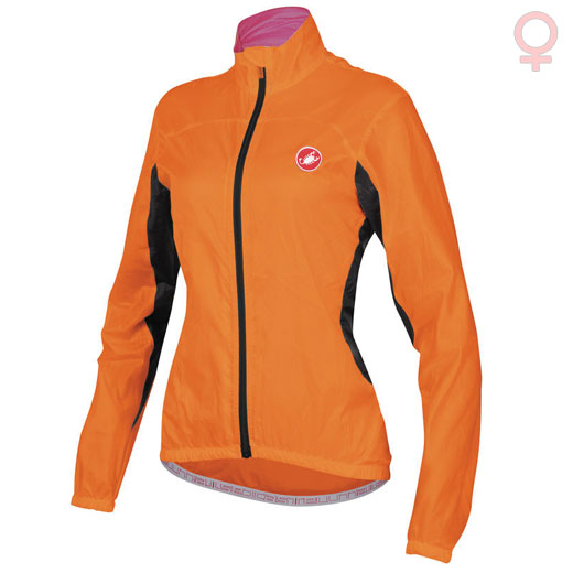 Jacket Frau Castelli Velo - Orange Fluo
