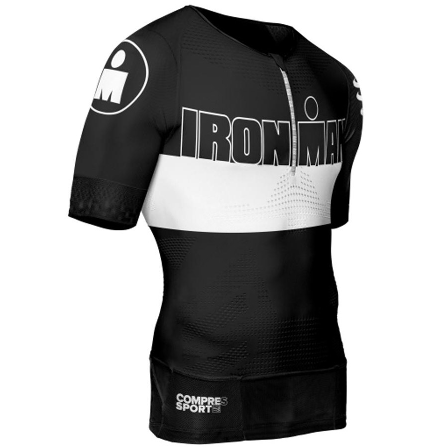 Compressport TR3 Aero Top Trikot - IronMan Schwarz