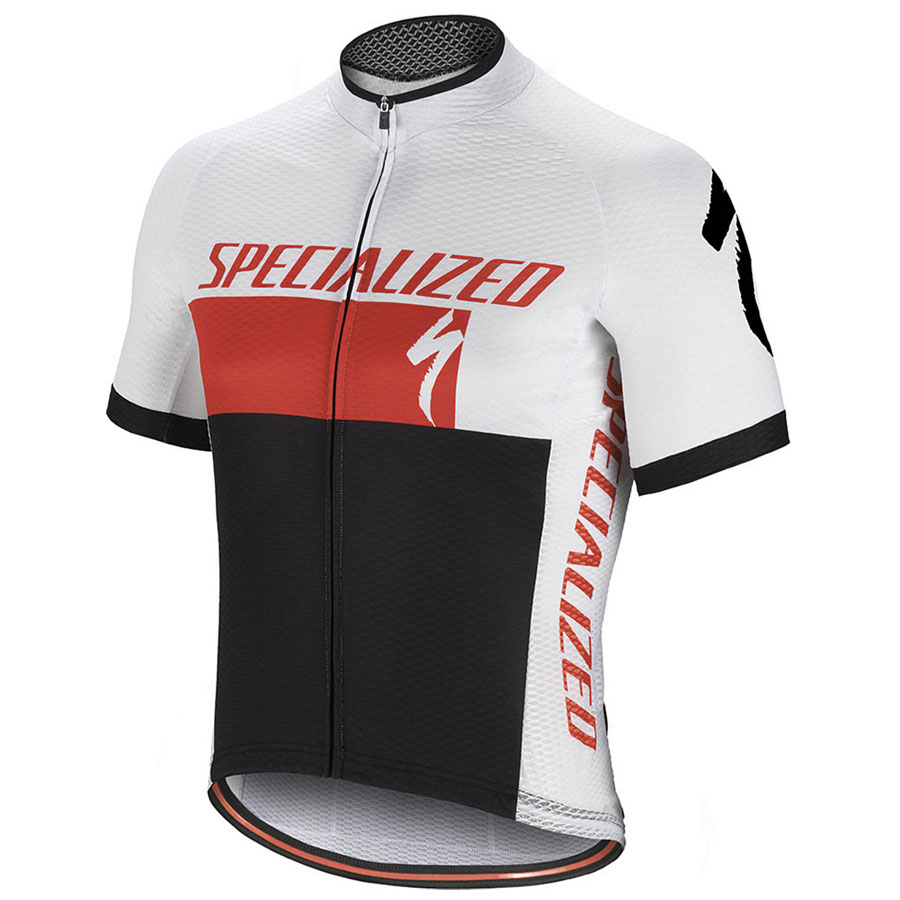 Trikot Specialized RBX Comp Logo - Weiss Rot
