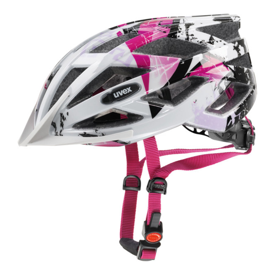 Uvex Air Wing Radhelm - Weiss Pink