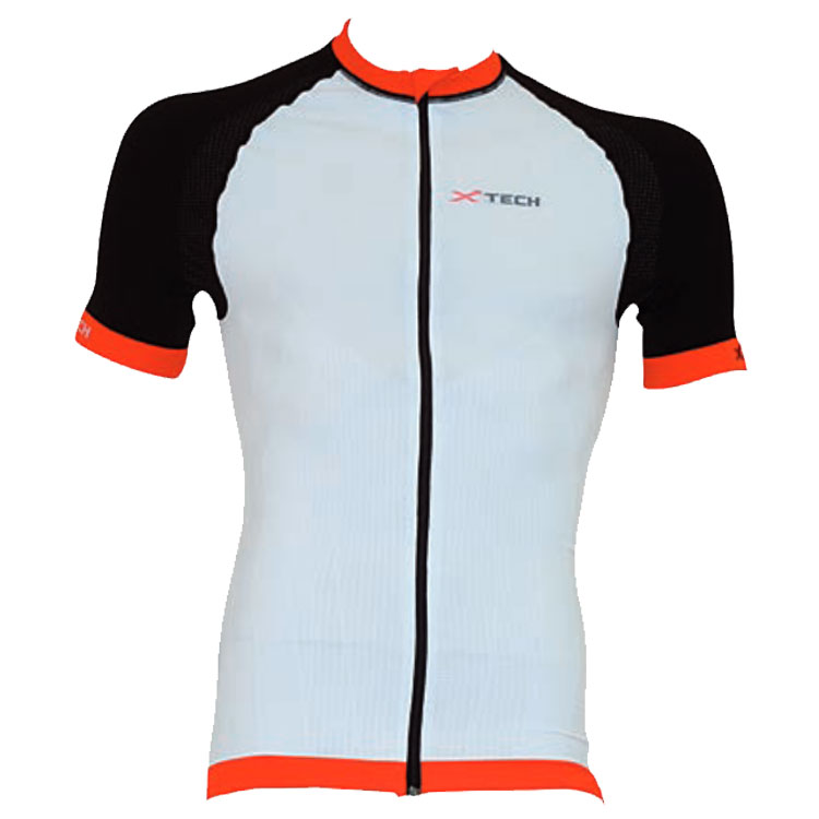 2018 Xtech Sport Bikeshirt Performance Carbon - Weiss