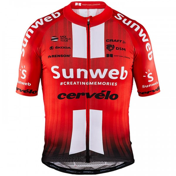 2019 TEAM SUNWEB Kurzarmtrikot Aerolight - Profi-Radsport-Team